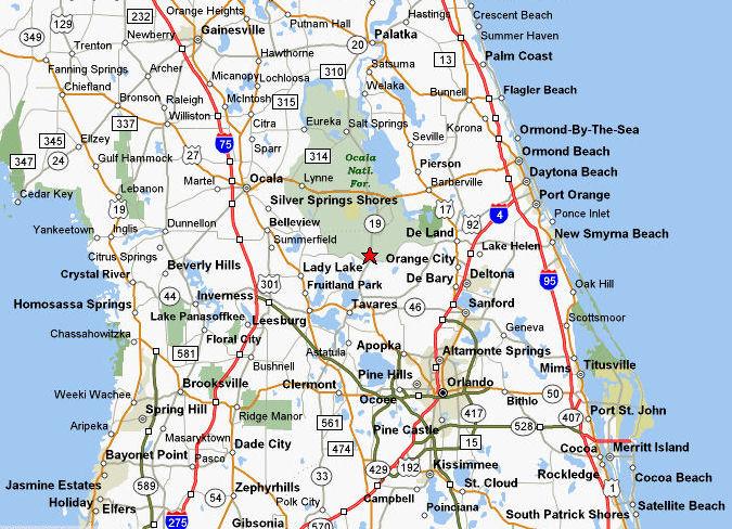 Altoona Map: 43316 State Road 19, Altoona, FL 32702